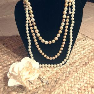 Jewelry - 4 Pc Bundle Vintage Faux Pearls